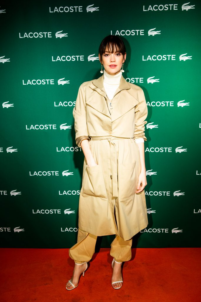 © Clemens Porikys for Lacoste, A Perfect Match: Re-Opening der Lacoste Boutique Berlin Kurfürstendamm am 06. Dezember 2018 mit Emilia Schüle (obs/Lacoste Germany GmbH/Clemens Porikys)