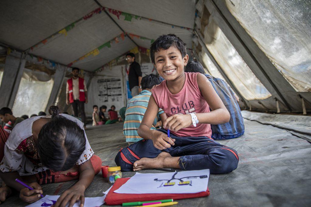 Save the Children schafft sichere Räume für Kinder.  (obs/C&A Europe (cunda.de)/Jonathan Hyams/Save the Children
