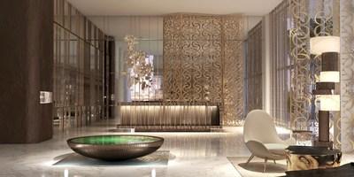 ELIE SAAB at Emaar Beachfront interior lobby rendering Foto: Emaar Properties