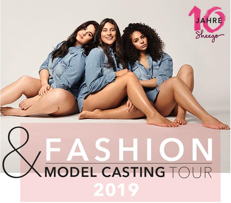 """Neues Kampagnengesicht 2020 gesucht! Auf der Suche nach neuen Gesichtern für die Marke führt die sheego Fashion & Model Casting Tour durch sechs Städte Deutschlands.  """"obs/Schwab Versand GmbH/sheego"""""""